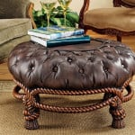 Twisted Rope Round Ottoman