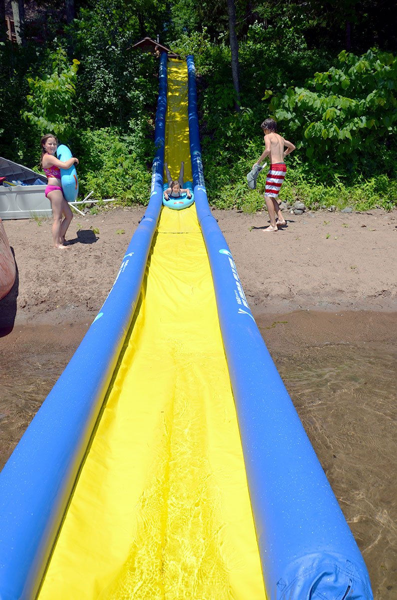 Water Toys For Grown Ups : Huge inflatable water slide