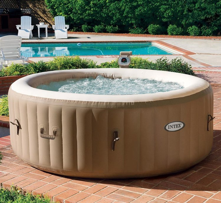 Inflatable hot tub for Jacuzzi en bois exterieur pour terrasse