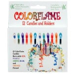 Colored Flames Birthday Candles