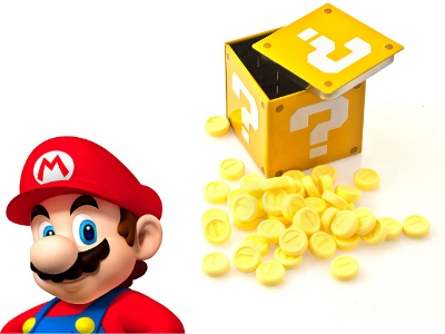 Mario Question Mark Box With Candy Coins