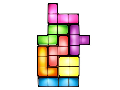 Re-Arrangeable Tetris Lamp
