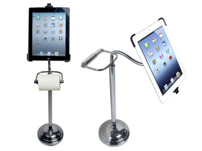 iPad Toilet Paper Stand
