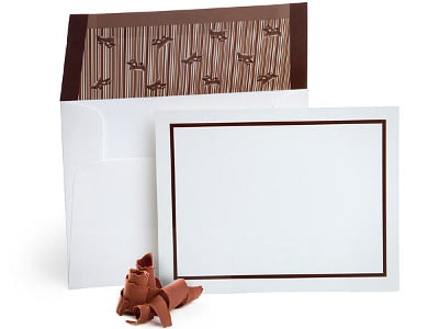 Chocolate Flavored Envelopes with Note Cards (Set of 10) 1