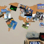 Corkboard World Map 4