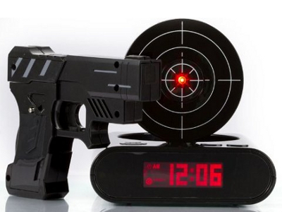 Gun Alarm Clock 1