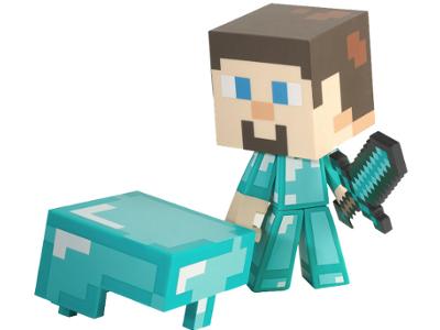 Minecraft Diamond Steve Figure 1