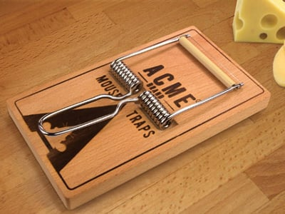 Mousetrap Cheese Board And Slicer 1
