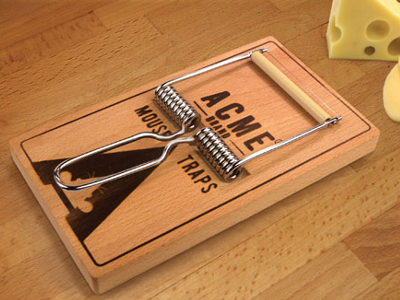 Mousetrap Cheese Board And Slicer