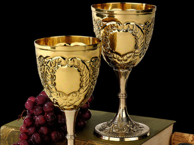 Royal Polished Brass Goblet 1