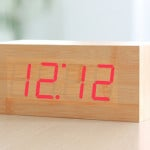 Sound Activated Wooden Block Alarm Clock 4