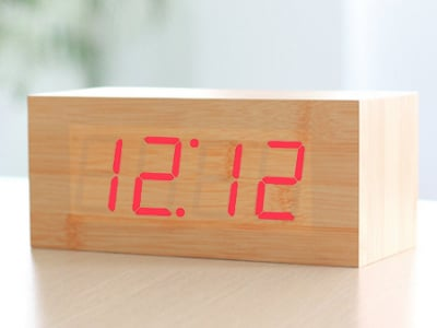 Sound Activated Wooden Block Alarm Clock 1