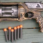 Handpainted Steampunk Nerf Gun