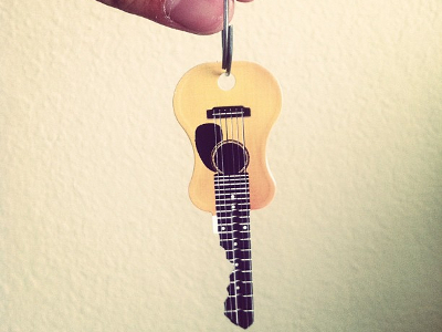 Acoustic Guitar Blank Key
