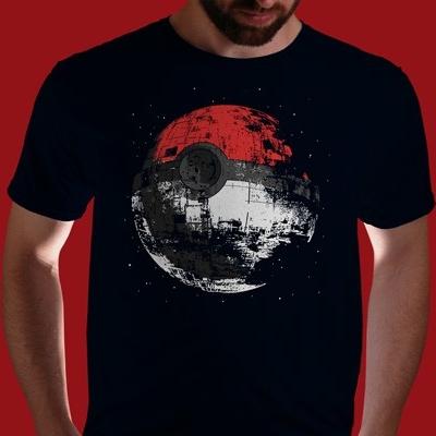 Pokeball Meets Death Star T-Shirt