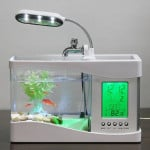 USB Desk Lamp, Clock, And Fish Tank