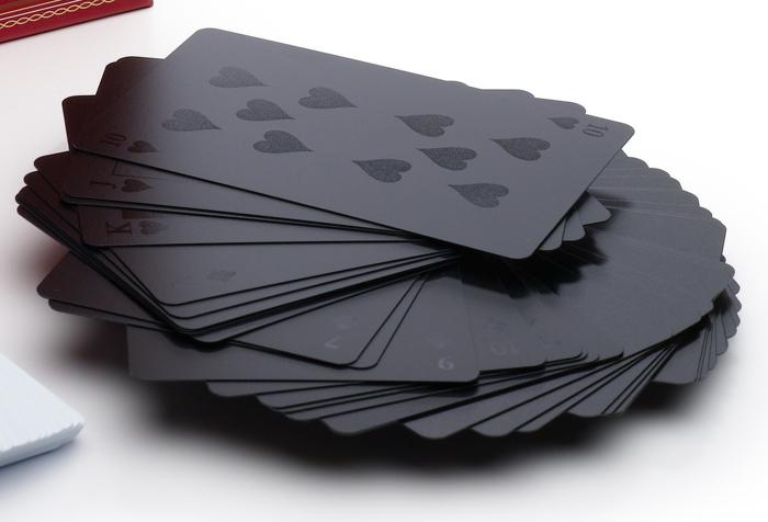 Black on Black Deck of Cards 1