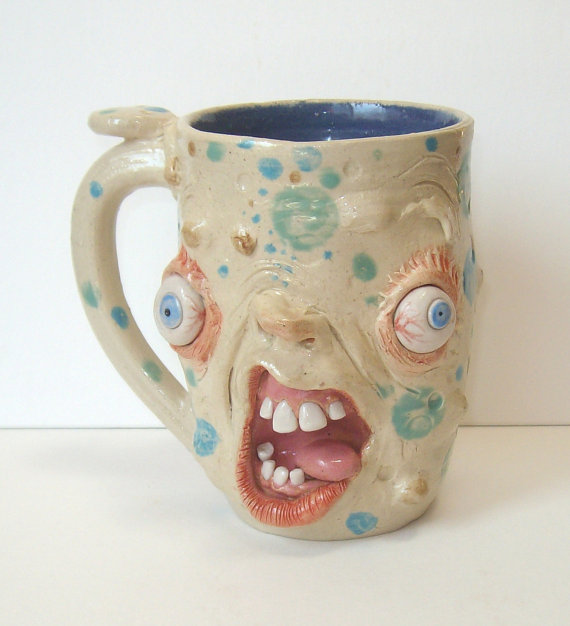 Handcrafted Zombie Mug-Aggghhh