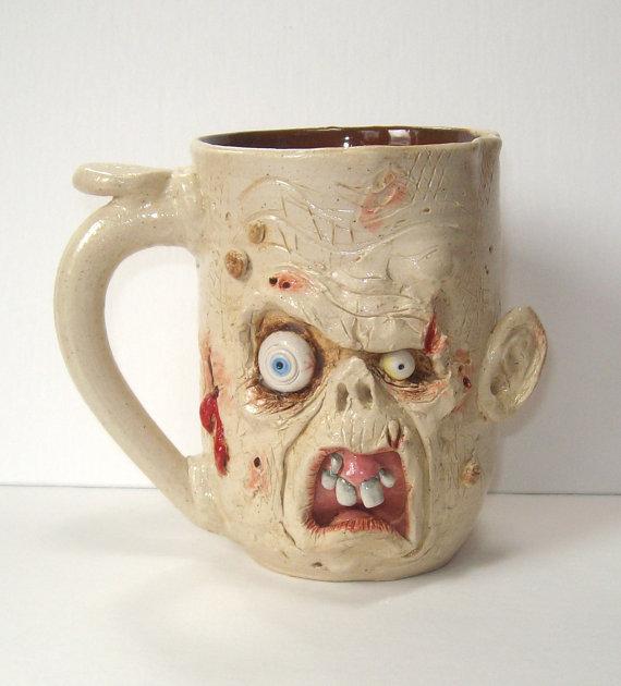 Handcrafted Zombie Mug-Cro-Magnon