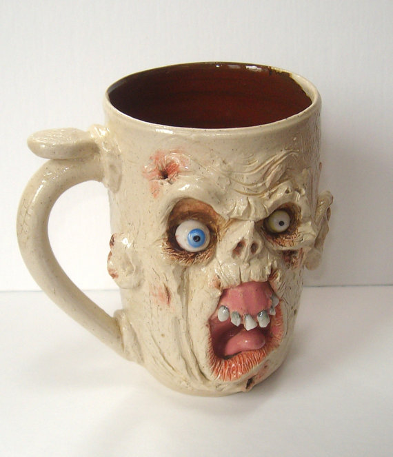 Handcrafted Zombie Mug-Loathsome Louie