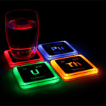Radioactive Elements Glowing Coaster Set 3