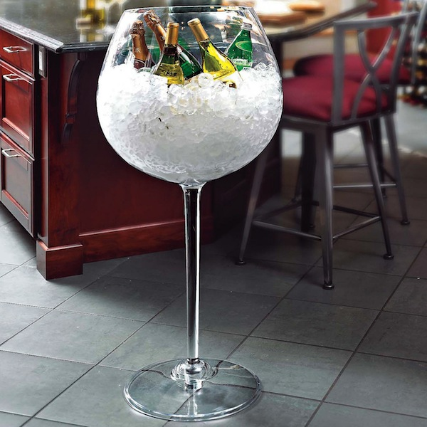 Giant Red Wine Glass 1