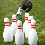 Outdoor Giant Inflatable Bowling Game 4