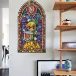 Zelda Stained Glass Wall Decal 5
