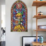Zelda Stained Glass Wall Decal 4