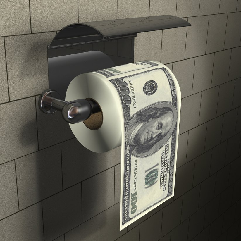100 Dollar Bills Toilet Paper Oh The Things You Can Buy