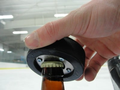Hockey Puck Bottle Opener (2)