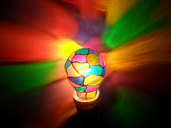 Stained Glass Light Bulb 1