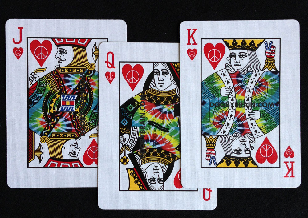 Tie Dye Playing Cards 1