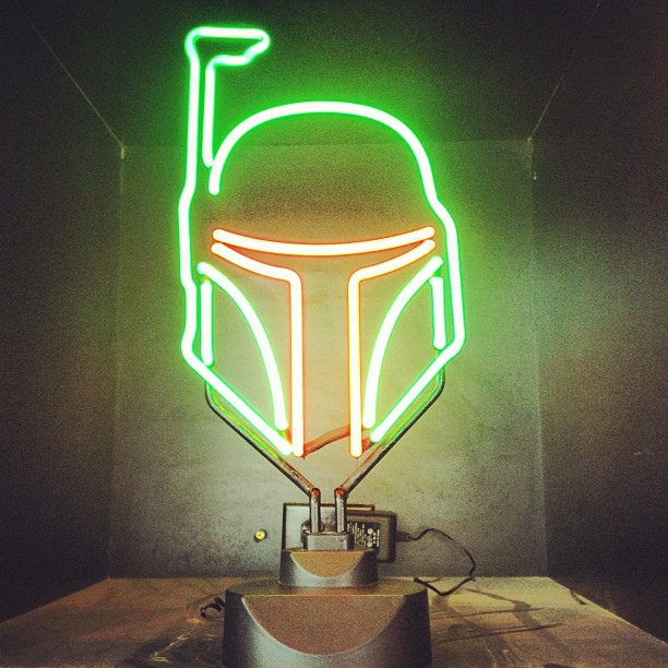 Boba Fett Neon Light 1