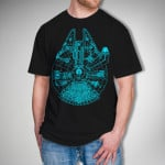 Glow In The Dark Millenium Falcon Shirt