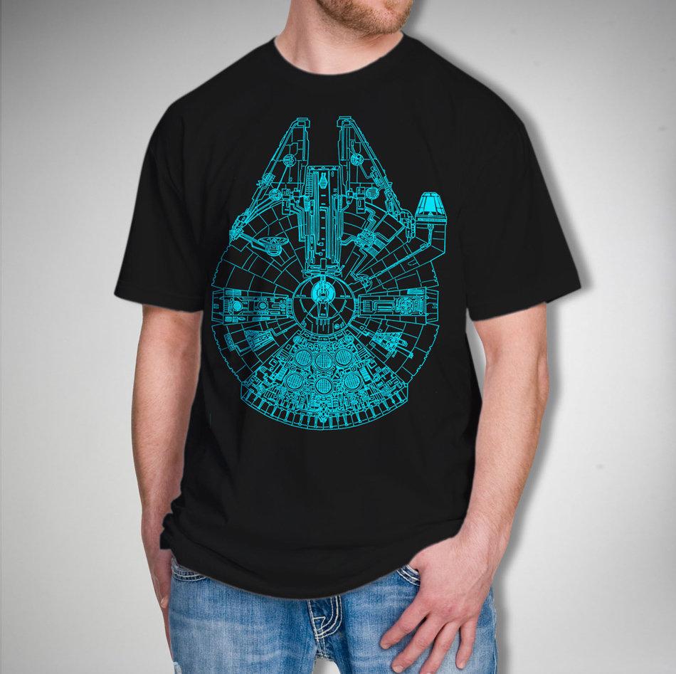 Glow In The Dark Millenium Falcon Shirt