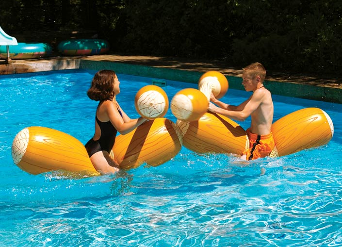 Inflatable Logs Jousting Set 1