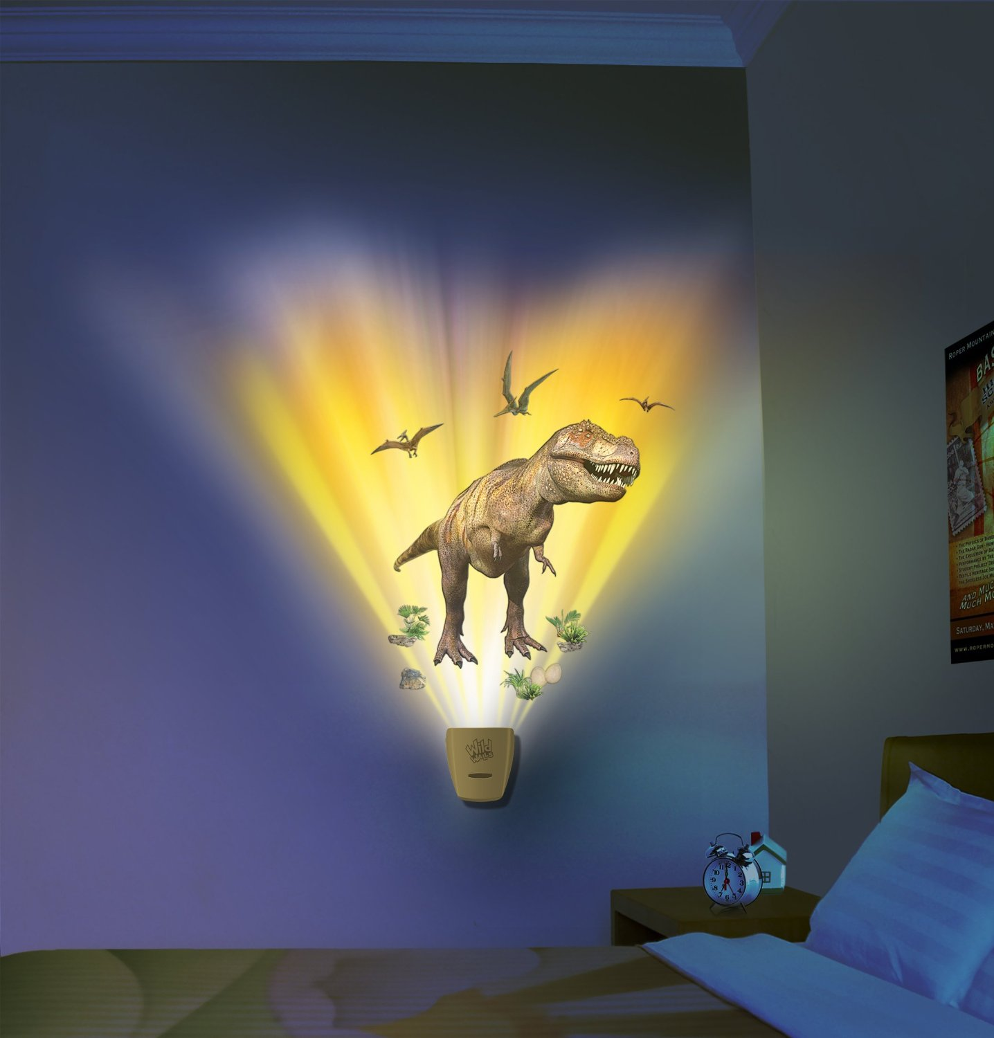 T rex night light for T rex bedroom decor