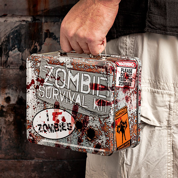 Zombie Survival Tin Lunch Box 1