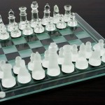 Glass Chess And Checker Board Set1