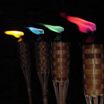 Colored Tiki Torch Flame