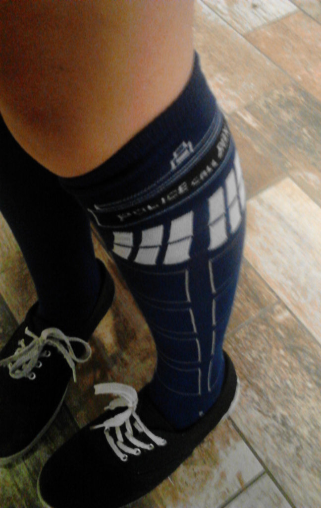 TARDIS Knee High Socks