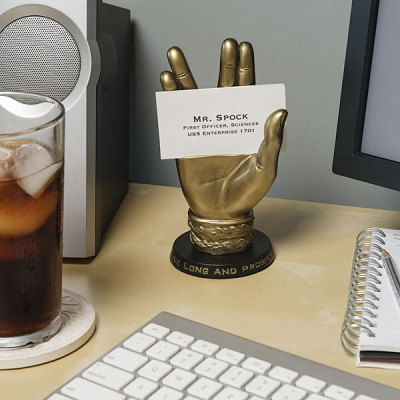 Spock business card holder