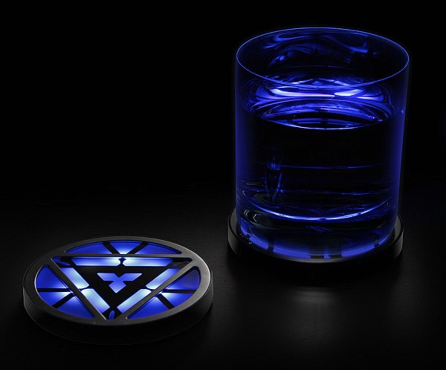 Arc Reactor Light-Up Coasters