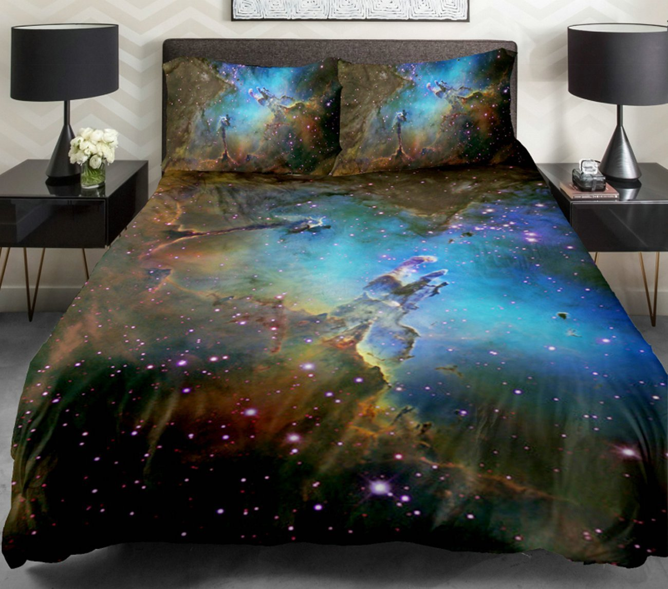 Galaxy bedding set for Outer space bedding