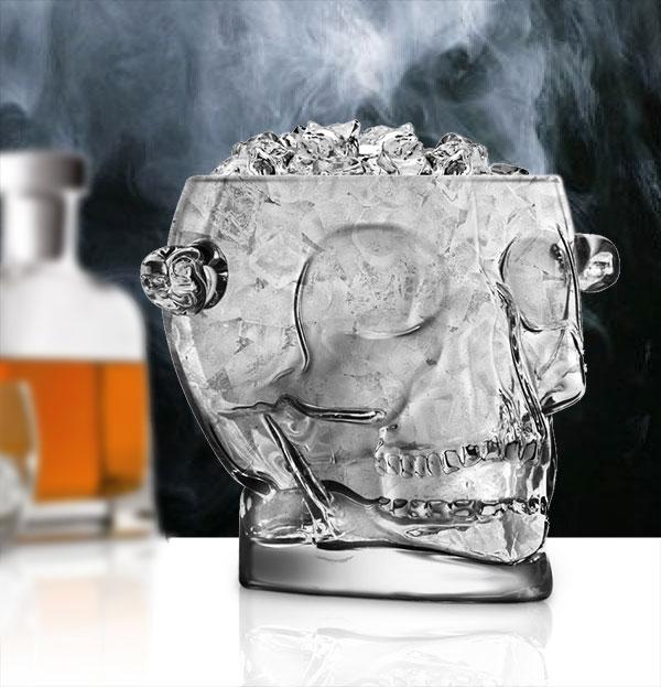 Glass Skull Ice Bucket