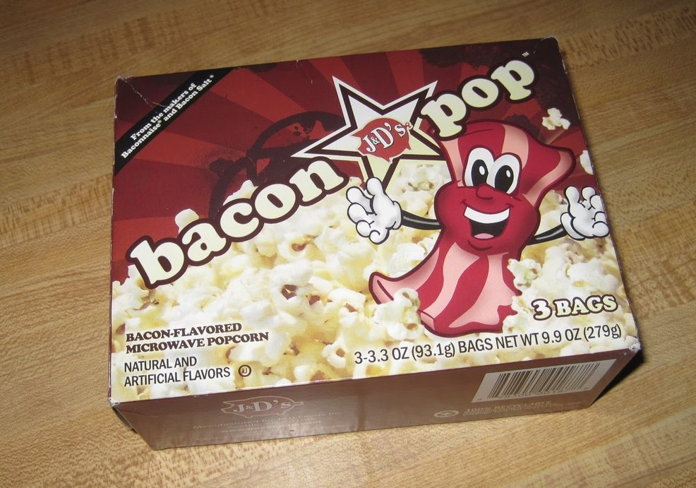 Bacon Flavored Microwave Popcorn