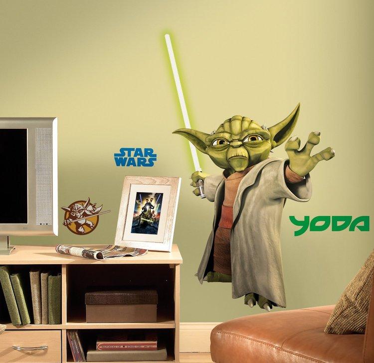 Glowing Yoda Decal