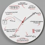 Scientific Equation Wall Clock