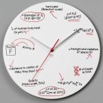 Scientific Equation Wall Clock